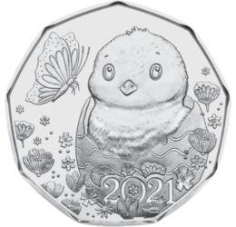 // 5 euró, 925-ös ezüst, Ausztria, 2021 // - Immár hagyomány, hogy az Osztrák Pénzverde Húsvétra emlékpénzt bocsát ki.Idén egy húsvéti tojásból kikelő kiscsibe jelképezi a tavaszt, a természet újjászületését.