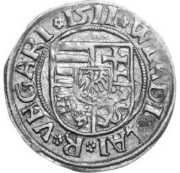 dénár, II. Ulászló, ezüst Magyar Királyság