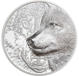 A szeretett-gonosz farkas, 500 tugrik, ezüst, Mongólia, 2021