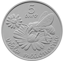 Mézelő méh, 5 euró, Szlovákia, 2021