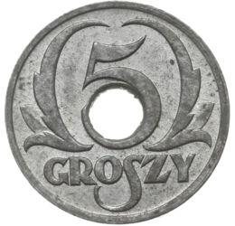Világégés, 5 grosz, Lengyelország, 1939