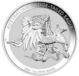 1 dollár, Ékfrakú sas, , színsúly, Ag 9999, 31,1 g, Ausztrália, 2021