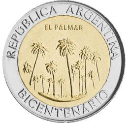 1 peso, , CuNi, 6,35 g, Argentína, 2010