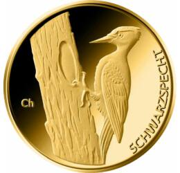 20 euró, Fekete harkály, Au 9999, 3.89 g, Németország, 2021