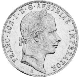 1 florin, Ferenc J.1857-72 vf,fiatalk, Ausztria