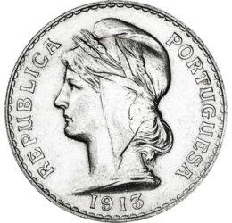 50 centavo, Frígiaisapkás nő, Ag, Portugália