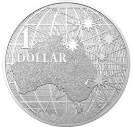 1 dollár, Ausztrália, csillagok, , színsúly, Ag 9999, 31,1 g, Ausztrália, 2021