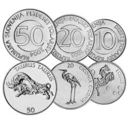 10, 20, 50 tolar, , 0, 0, Szlovénia, 2002-2006