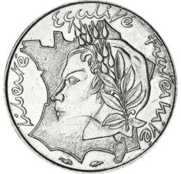 10 frank, Gall kakas, , , Ni, 6,5 g, Franciaország, 1986