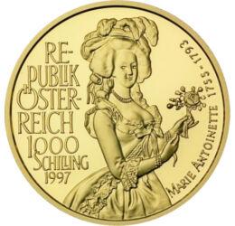 1000 schilling, Mária Antónia, , , Au 995, 16,08 g, Ausztria, 1997
