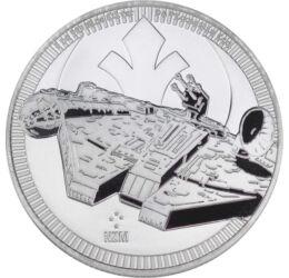2 dollár, Millennium Falcon, Ag 999, 31,1 g, Niue, 2021