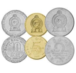25, 50 cent, 1, 2, 5, 10 rúpia, , 0, 0, Sri Lanka, 2005-2013