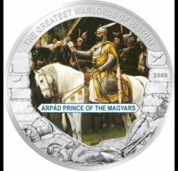 Árpád fejedelem, a magyar törzsszövetség nagyfejedelme, 5 dollár, Libéria, 2009