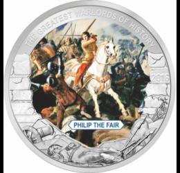 IV. (Szép) Fülöp, francia király, 1 dollár, Palau, 2016