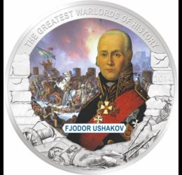 Fjodor Usakov, orosz tengernagy, 1 dollár, Palau, 2014