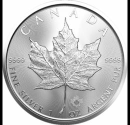 1 unciás ezüst juharlevél, 5 dollár, ezüst, Kanada