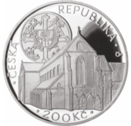 // 200 korona, Csehország, 2012 // - Gyönyörű emlékérme Csehország egyik legértékesebb, a gótikus építészet egyik gyöngyszeme, az Arany Korona Kolostorról. A legenda szerint ebben a kolostorban őrizték Krisztus töviskoronájának egy tüskéjét. Alapításának
