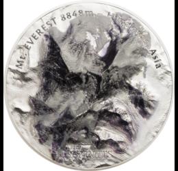 Mount Everest - Csomolungma, 25 dollár, ezüst, Cook-szigetek, 2017