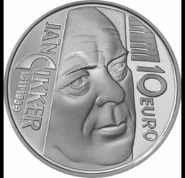 Ján Cikker, zeneszerző, 10 euró, ezüst, Szlovákia, 2011