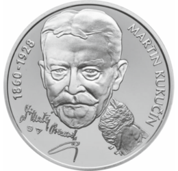 Martin Kukučín, drámaíró, 10 euró, ezüst, Szlovákia, 2010
