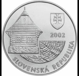 200 koron,Vlkolínec fatemplom,UNESCO Szlovákia