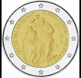 Sixtus-kápolna, 2 euró, Vatikán, 2019