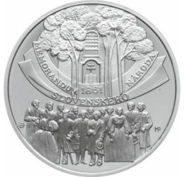 A nemzeti önállóság kiáltványa, 10 euró, ezüst, Szlovákia, 2011