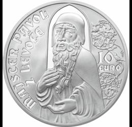 Lőcsei Pál mester, szobrász, 10 euró, ezüst, Szlovákia, 2012