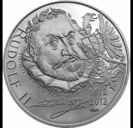 // 200 korona, Csehország, 2012 // - A magyar királyok között kétségkívül II. Rudolf volt a legnagyobb aranycsináló. A valaha élt legkülöncebb uralkodó erősen érdeklődött a tudomány, de az alkímia iránt is. Prágai palotájában maga végezte a laboratóriumi
