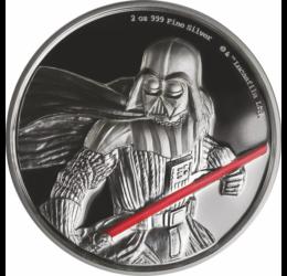 Darth Vader, 5 dollár, 2 uncia színezüst, festett motívummal, díszcsomagolásban
