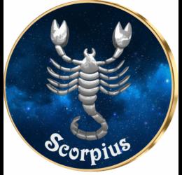 Skorpió csillagjegy érem, exkluzív díszcsomagolásban