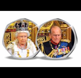 """Fülöp herceg """"hét kilences"""" emlékezete, 2x50 penny, Nagy-Britannia, 2012"""