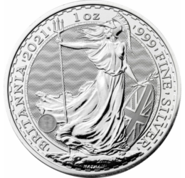 // 2 font, Britannia, Ag 999, Nagy Britannia, 2021 // Britannia immáron 2000 éve a brit sziget szimbóluma. A rómaiak jelölték először ezt a provinciát az istennő pajzsos, szigonyos alakjával. Modern változata 1997 óta a gyűjtemények elengedhetetlen darabj
