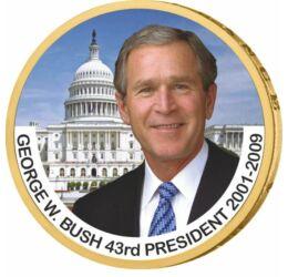 1 dollár, George W. Bush - az USA 43. elnöke, CuNi, USA