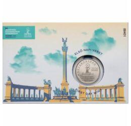 50 forint, Ferenc pápa Budapesten, verdefényes, Magyarország, 2021