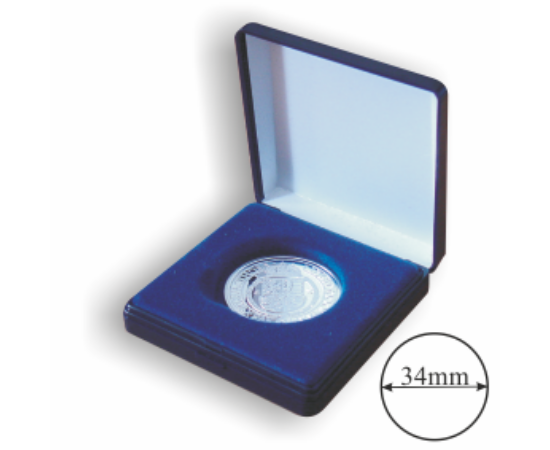 Egyfészkes doboz (érme átmérő 34 mm)