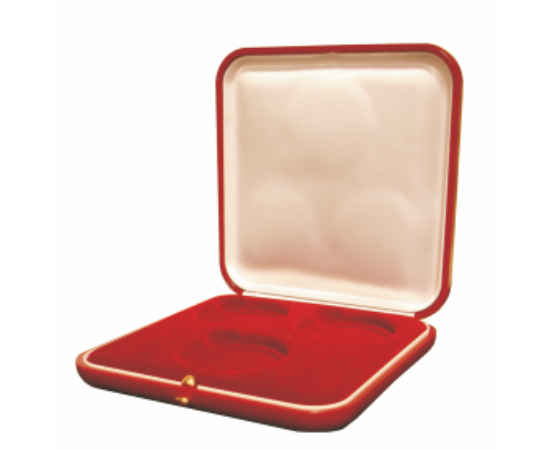 Többfészkes doboz(bordó, 3 fészkes)
