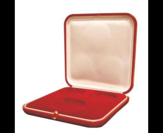 Többfészkes doboz (bordó, 3 fészkes)