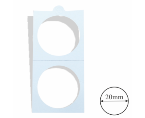 Érmetartó karton (érme átmérő 20 mm)