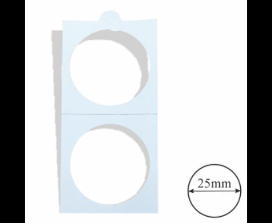 Érmetartó karton (érme átmérő 25 mm)