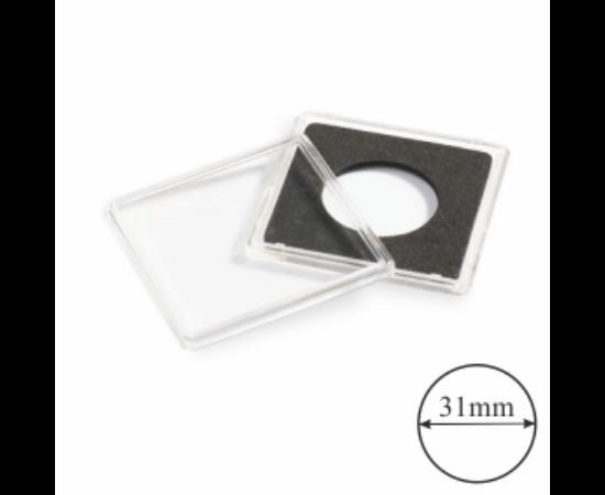 QUADRUM szögletes kapszulák (érme átmérő 31 mm)