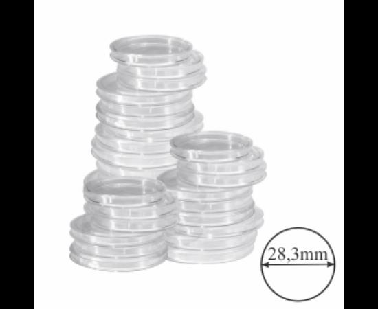 Érmekapszulák, (érme átmérő 28,3 mm)