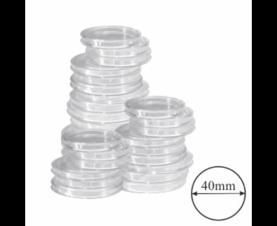 Érmekapszulák, (érme átmérő 40 mm)