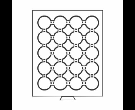 Érmetároló tálcák 20 x (érme átmérő 39 mm) - 5 $ CAN, 10 €, USA ezüst $