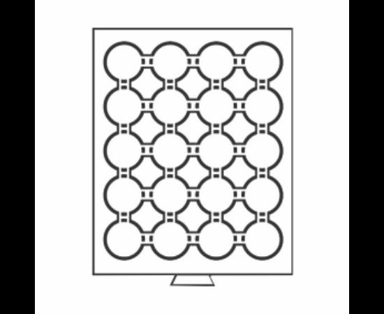 Érmetároló tálcák 20 x (érme átmérő 41 mm) - befektető érméknek