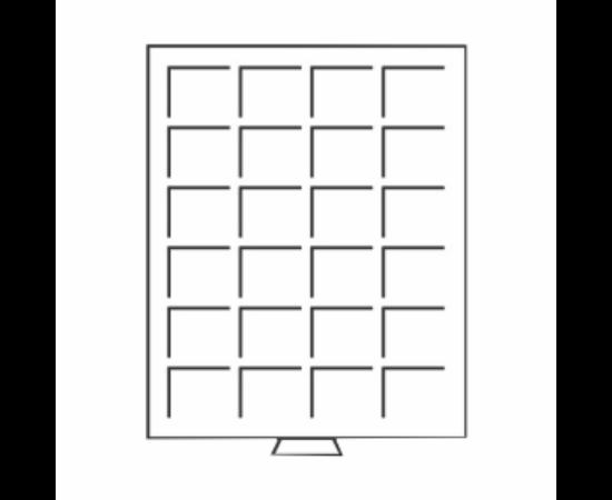 Érmetároló tálca (szekrényhez), 24 x Ø 42 mm befektetői érmeknek