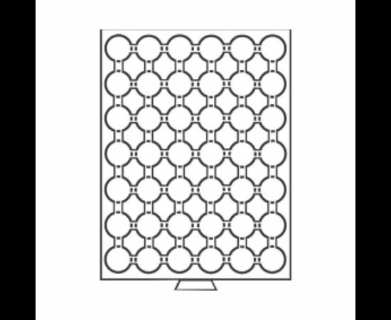 Érmetároló tálcák 42 x (érme átmérő 24,5 mm) – 50 euró cent, USA ¼ $