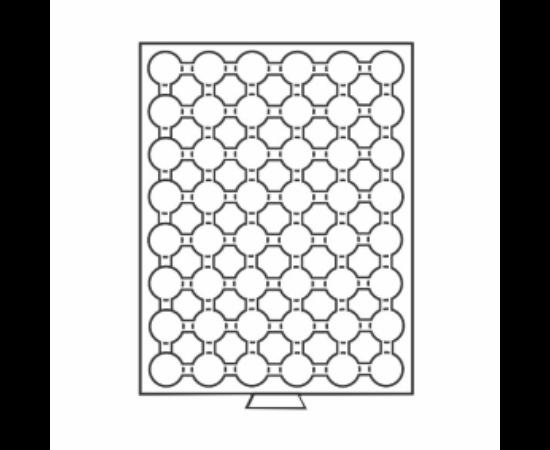 Érmetároló tálca (szekrényhez), 48 x Ø 21,5 mm – 5, 10 euró cent