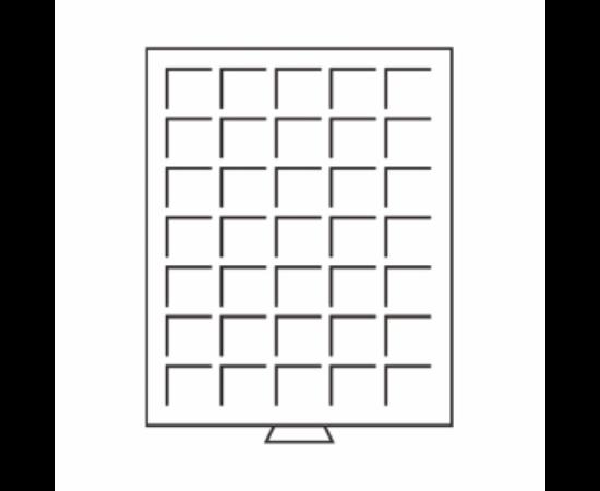 Érmetároló tálca - bőröndhöz (35 x Ø 27 mm2 €)