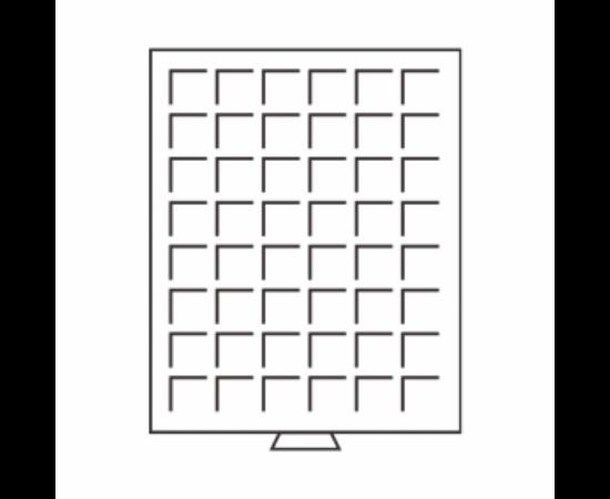 Érmatartó tálca bőröndhöz (48 érmehely 24 x 24 mm)